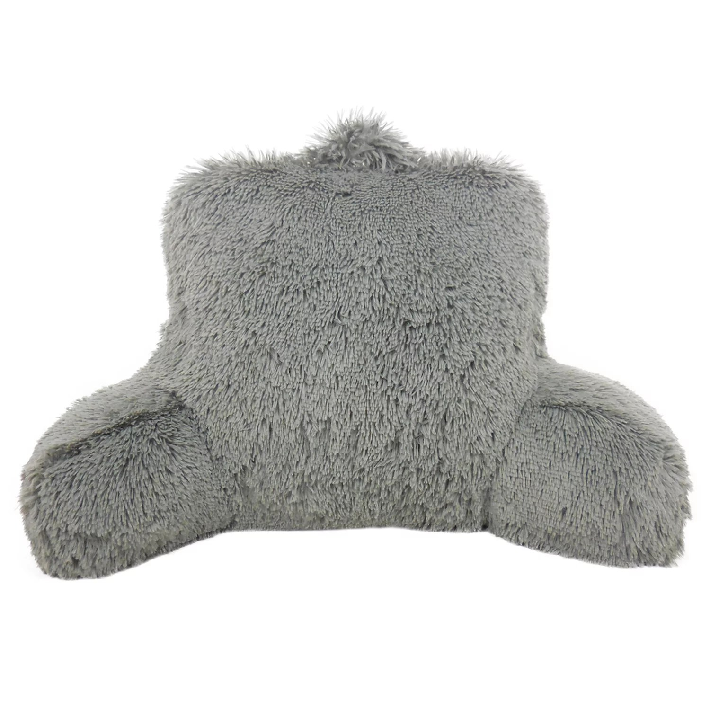 elements shaggy faux fur backrest pillow