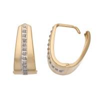 Diamond Fascination 14k Gold U-Hoop Earrings, Women's ...