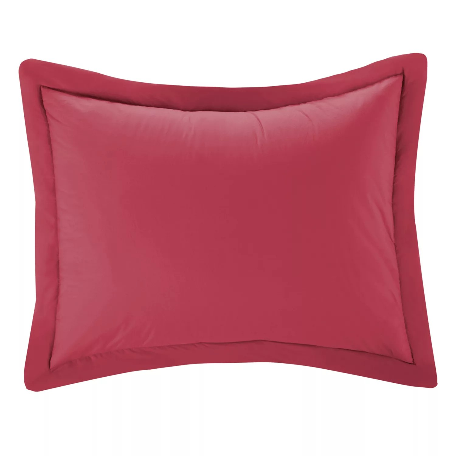 red unassigned pillow shams