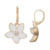 Dana Buchman Flower Drop Earrings | DealTrend