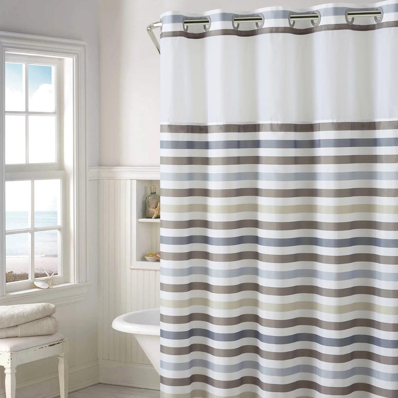 kitchen mixers wilson cabinet hoosier hookless hampton multi-striped shower curtain with liner