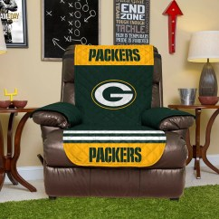 Green Bay Packers Chair Container Store Bungee Quilted Recliner Cover