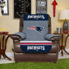 Recliner Chair Covers Custom Restaurant Tables And Chairs New England Patriots Quilted Cover