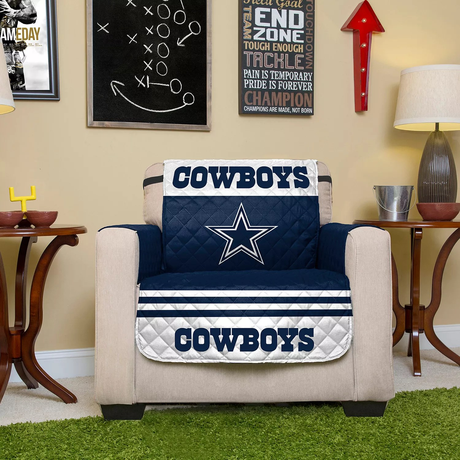 dallas cowboys chair cover wedding decorations ideas quilted