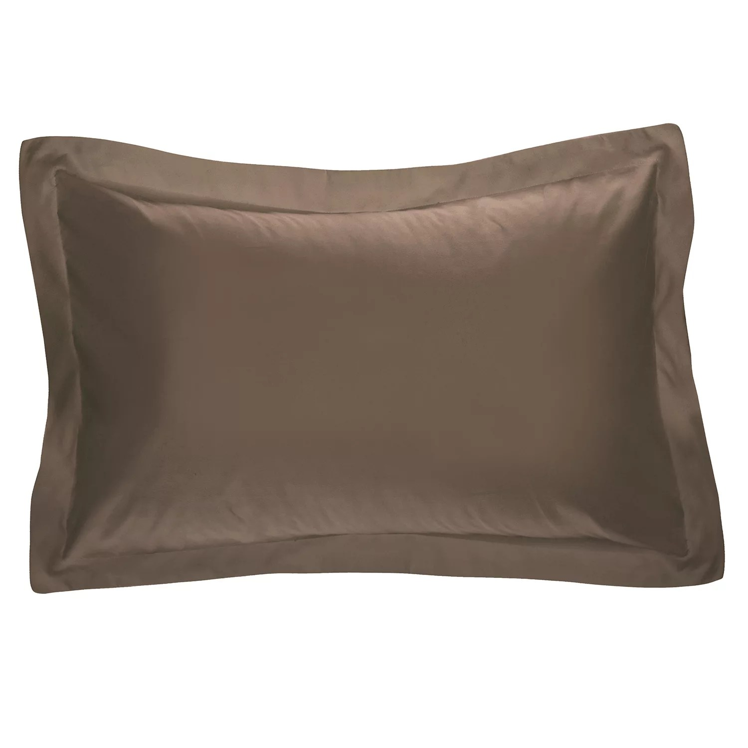 brown pillow shams bedding bed