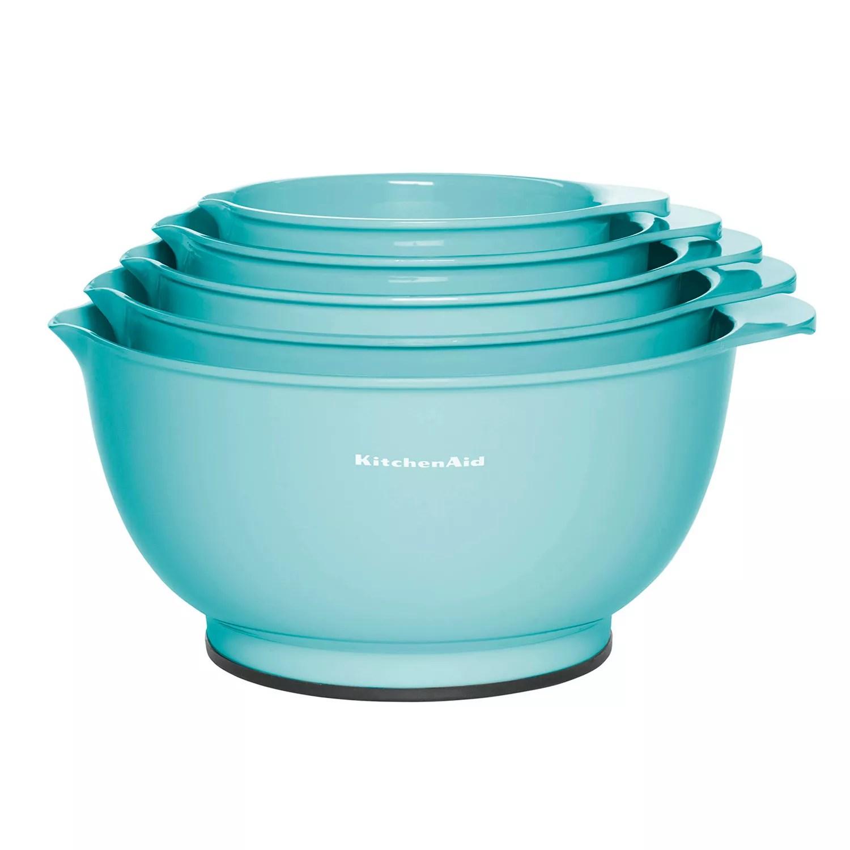 kitchen aid bowls cabinets refacing kitchenaid aqua sky 5 pc mixing bowl set