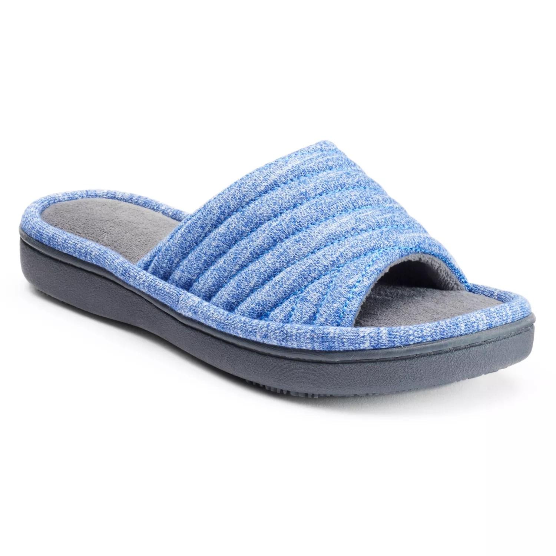 also isotoner women   andrea space knit slide slippers rh kohls