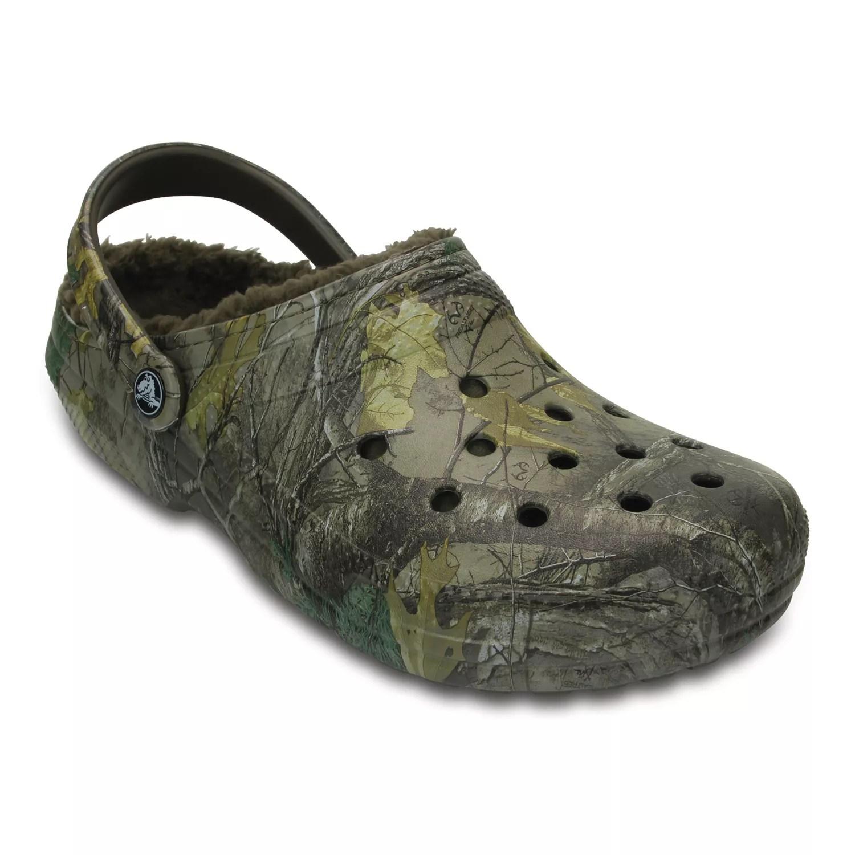 Crocs Classic Realtree Xtra Fuzz Lined Adult Clogs