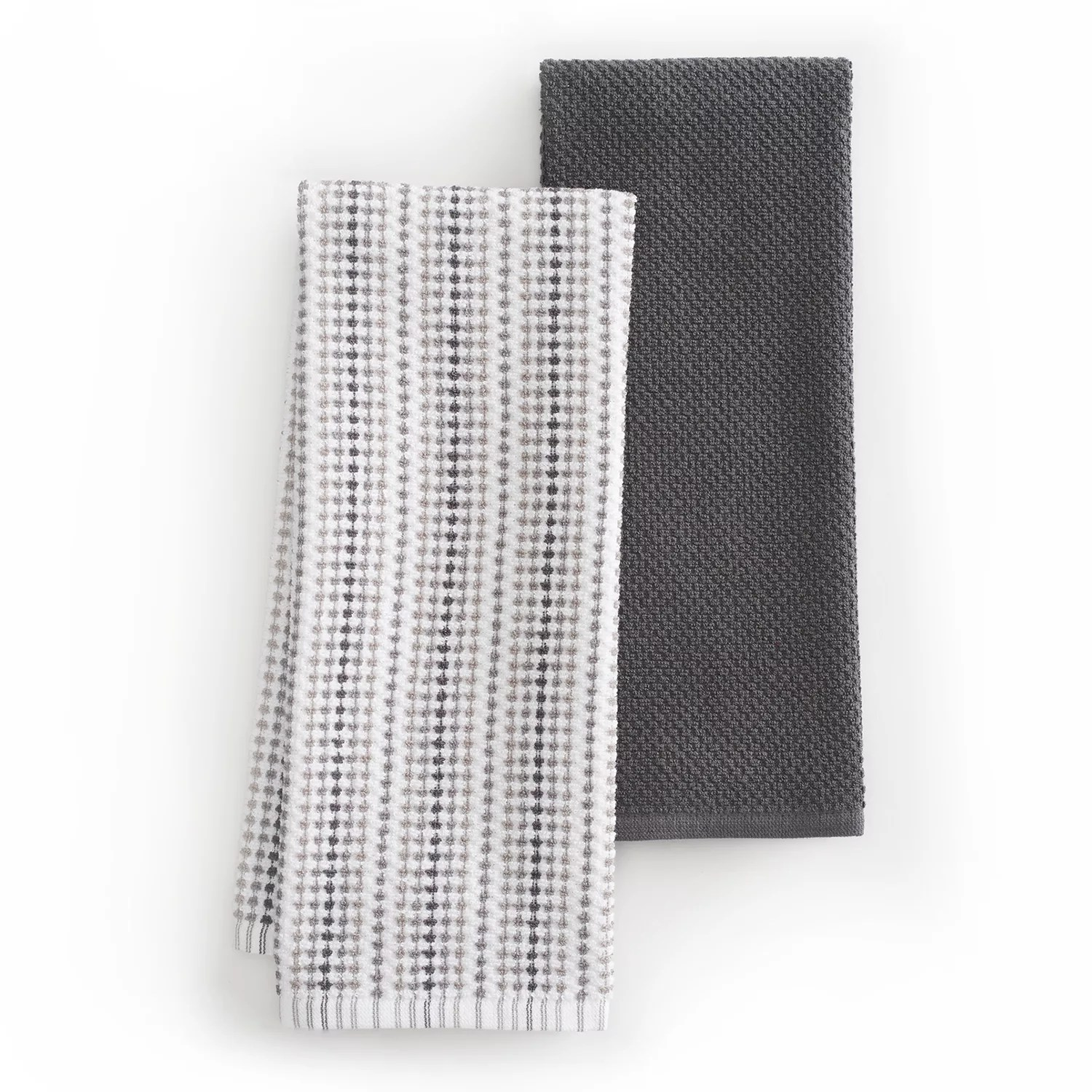 kitchen towels outdoor table food network dish rags linens awning stripe towel 2 pack
