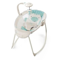 Graco Swing Chair Zebra Fishing Pedestals Ingenuity Moonlight Zoo Rocking Sleeper