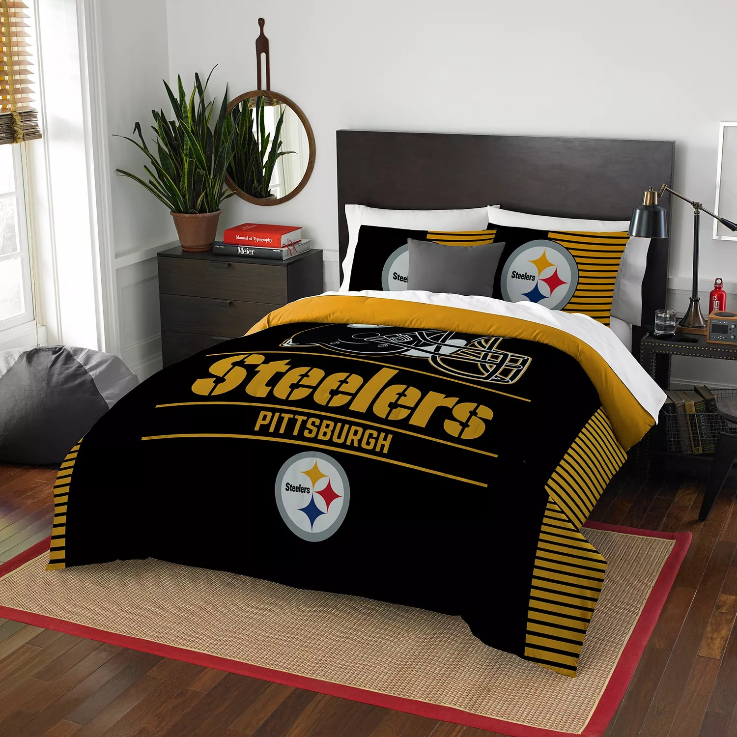 Pittsburgh Steelers Draft Full Queen Comforter Set