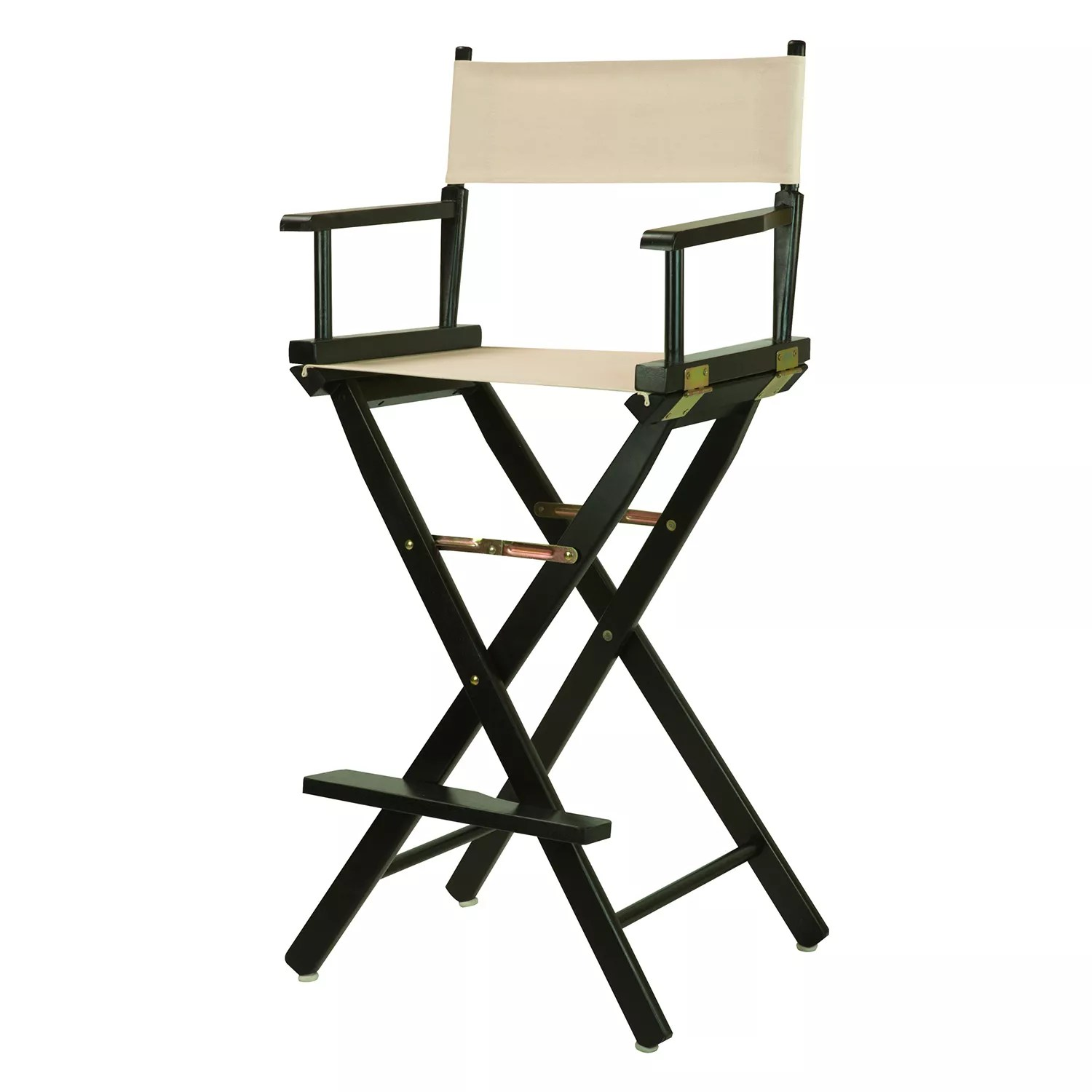 dorm chairs kohls rocking chair runners essentials folding kohl s casual home 30 black finish director bar stool