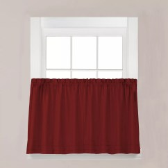 Kitchen Curtains Kohls Track Lights For Red Drapes Window Treatments Home Decor Kohl S Saturday Knight Ltd Holden Tier Curtain Set