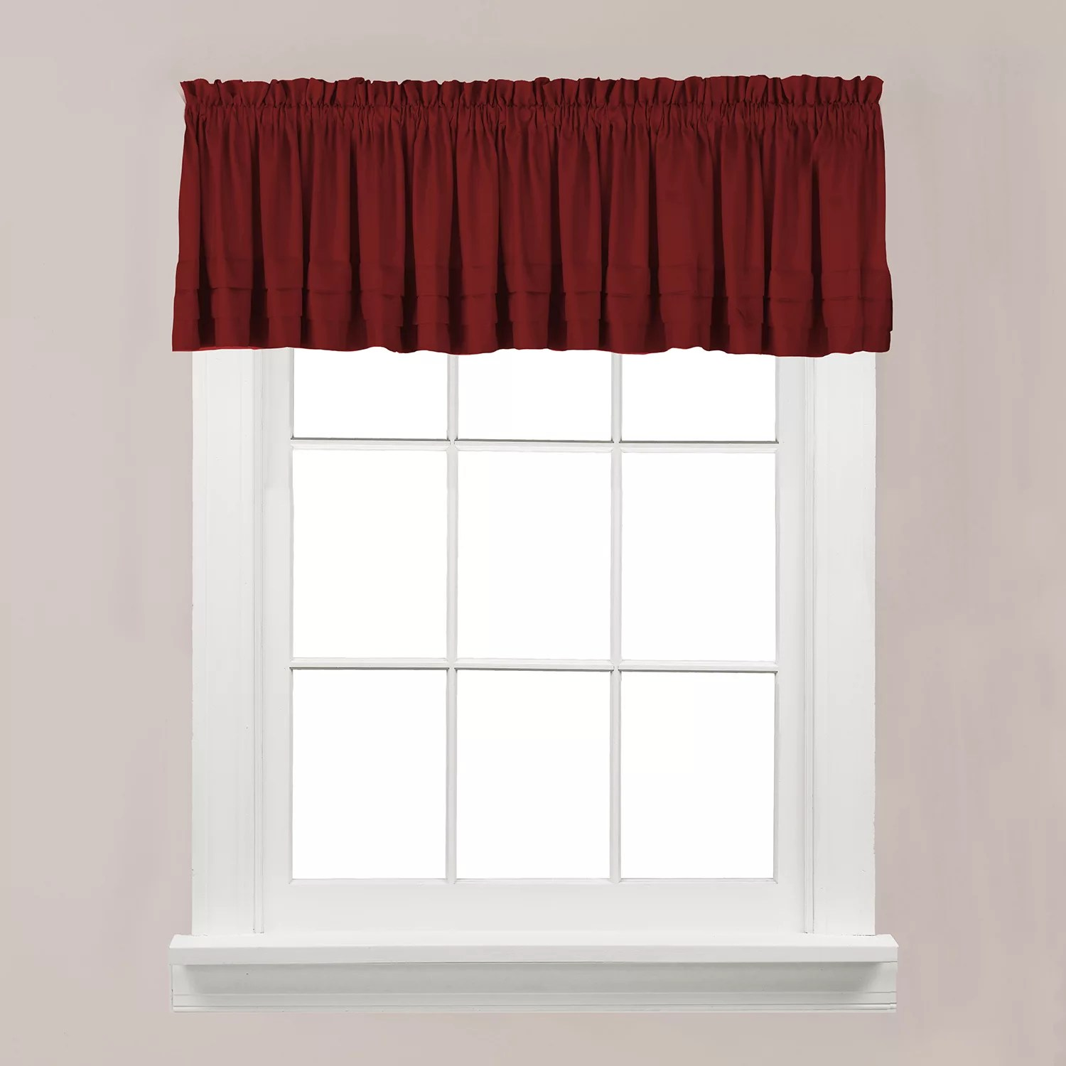 red kitchen valance aid cover valances window treatments kohl s saturday knight ltd holden