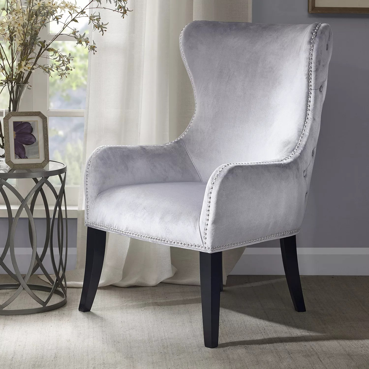 Tufted High Back Chair Madison Park Tufted High Back Accent Chair