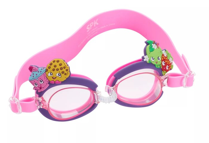 Kids Shopkins Cupcake Chic Kooky Cookie Apple Blossom Swim Goggles
