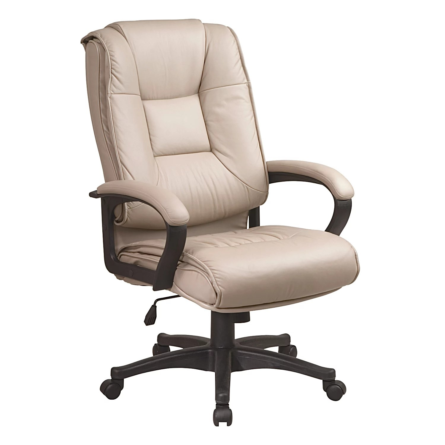 Executive Leather Chair Office Star Products Deluxe High Back Executive Leather Chair