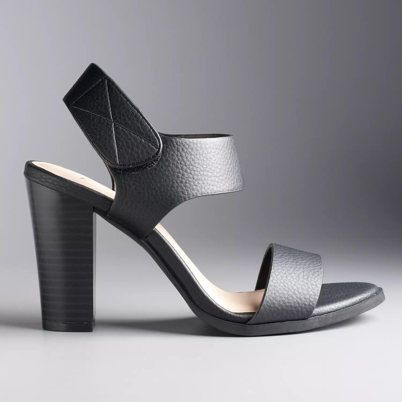 Simply Vera Vera Wang Joan Womens High Heel Sandals