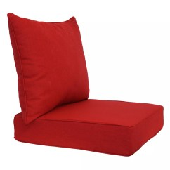 Patio Chair Pads Covers For Plastic Outdoor Chairs Red Cushions Decorative Pillows Sonoma Goods Life 2 Piece Indoor Reversible Deep Seat Cushion Set