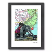 Americanflat Jersey Shore Lucy Elephant Margate Framed ...