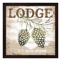 """Lodge"" Framed Wall Art"