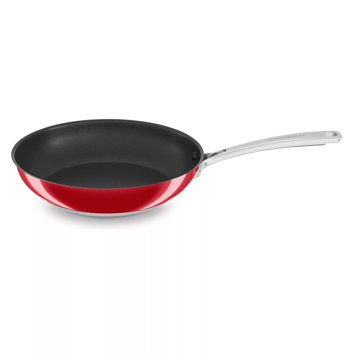 kitchen aid pans single basin sink kitchenaid skillets frying pots cookware bakeware stainless steel nonstick skillet
