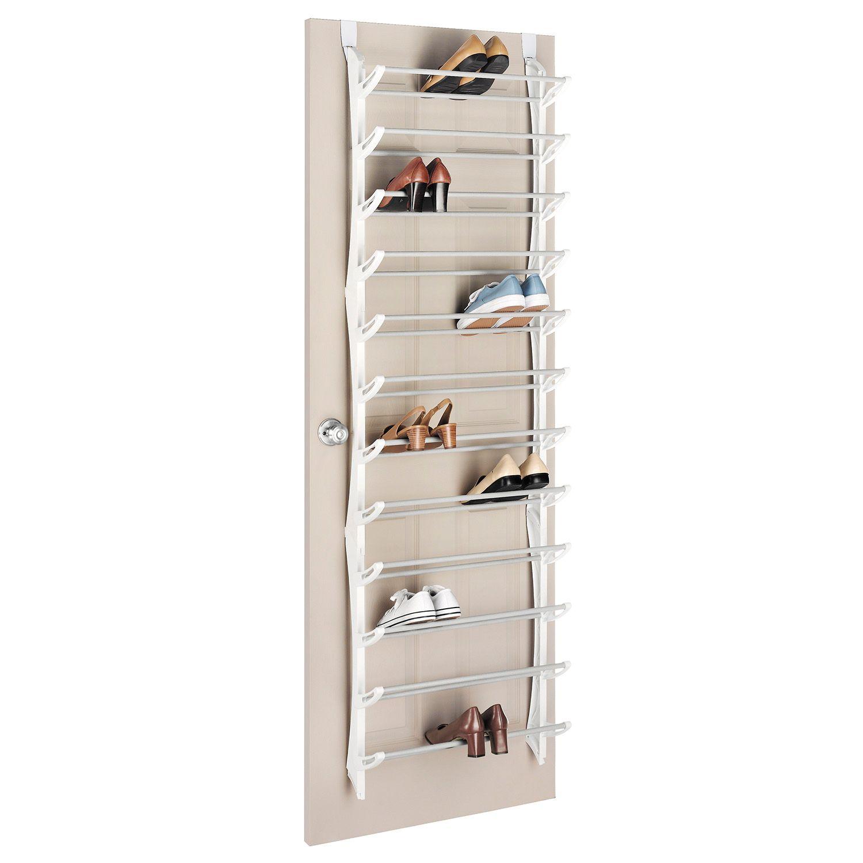 whitmor 36 pair over the door shoe rack