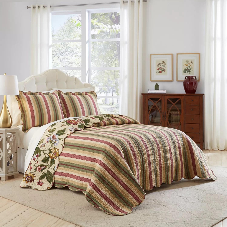 Waverly 3 Piece Laurel Springs Bedspread Set