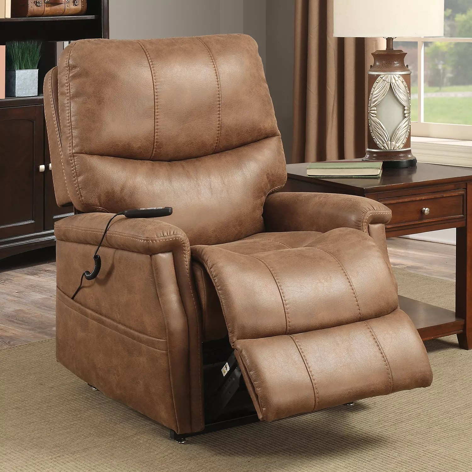 accent chair recliner wicker desk recliners chairs furniture kohl s pulaski remote lift arm