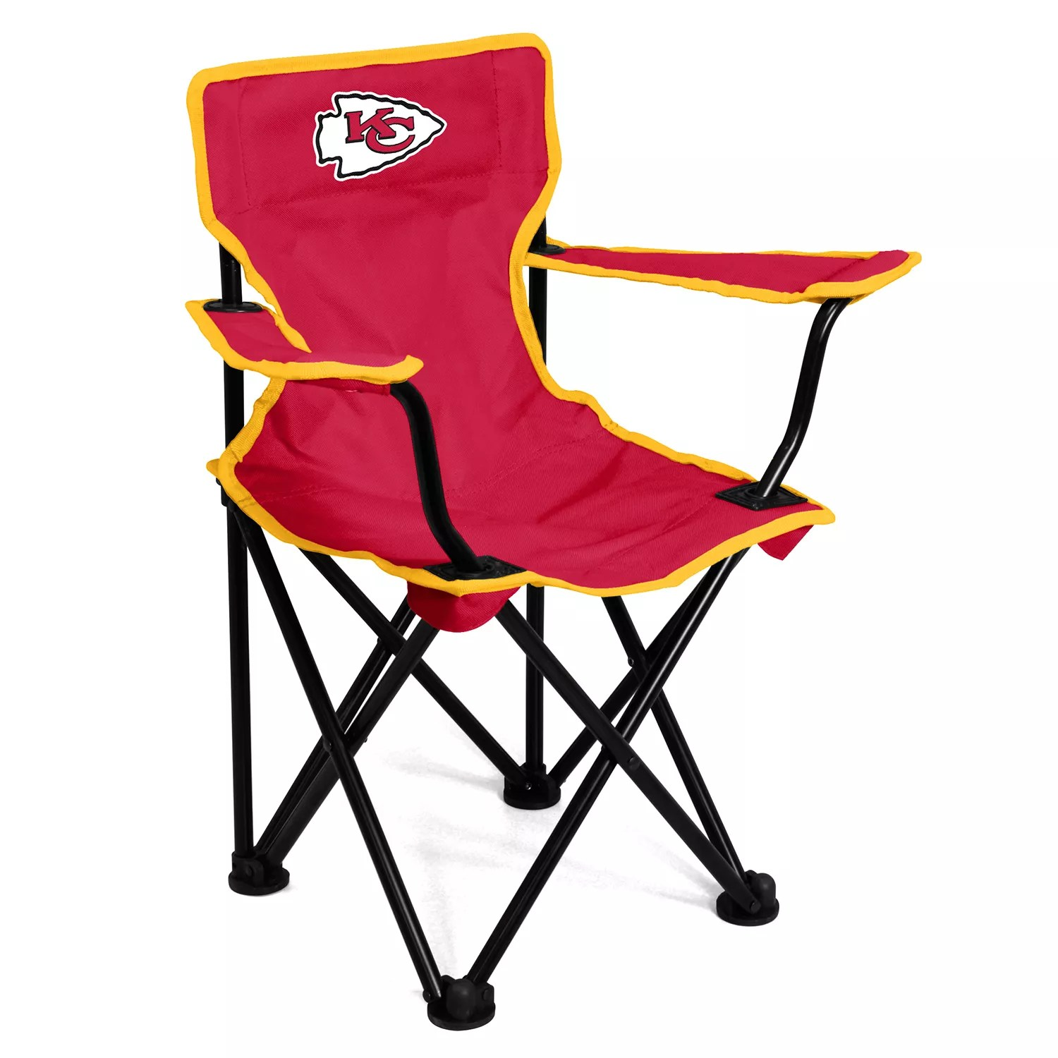 portable folding chairs upholstered lounge chair logo brands kansas city chiefs toddler