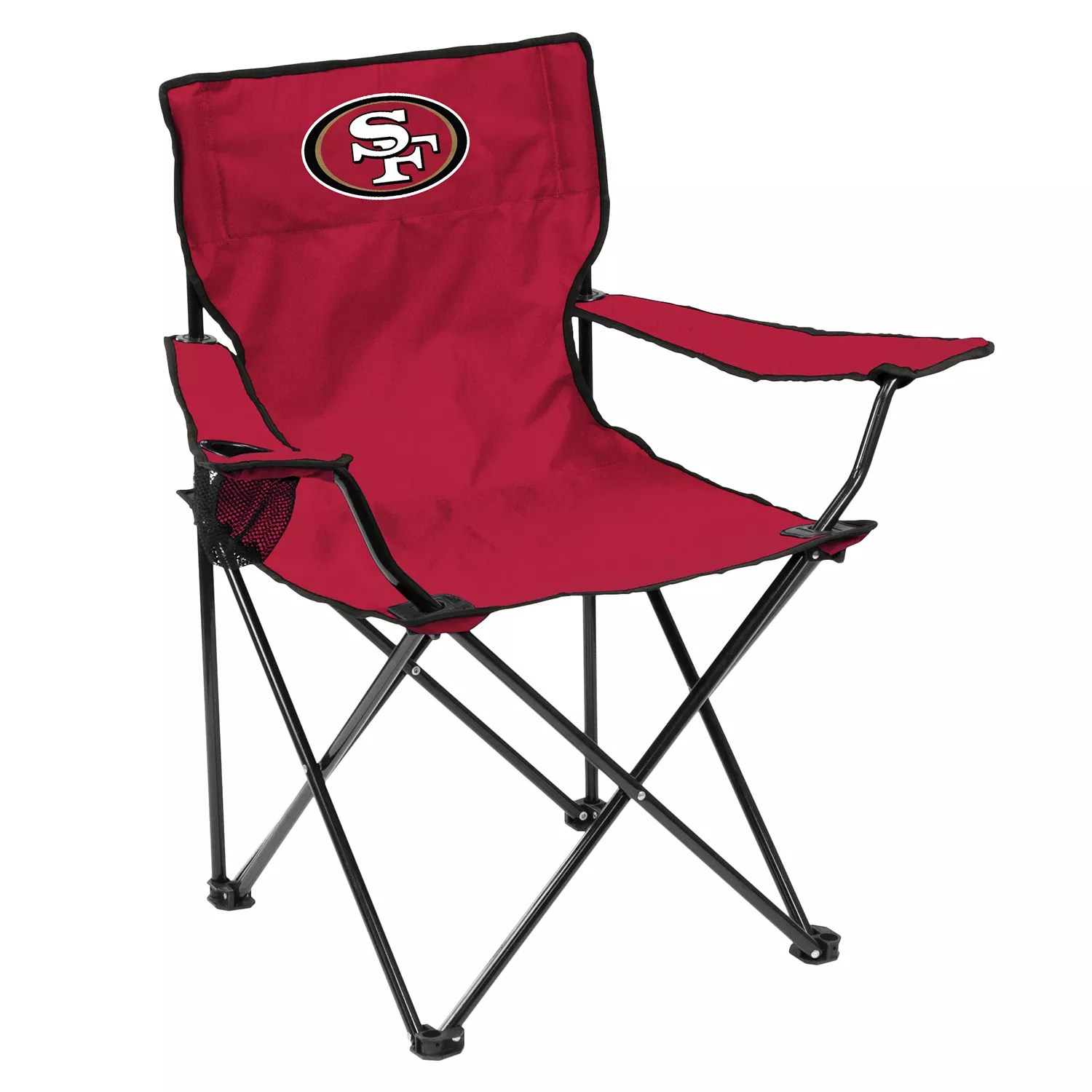 49ers camping chair wingback wicker adult logo brand san francisco quad portable folding