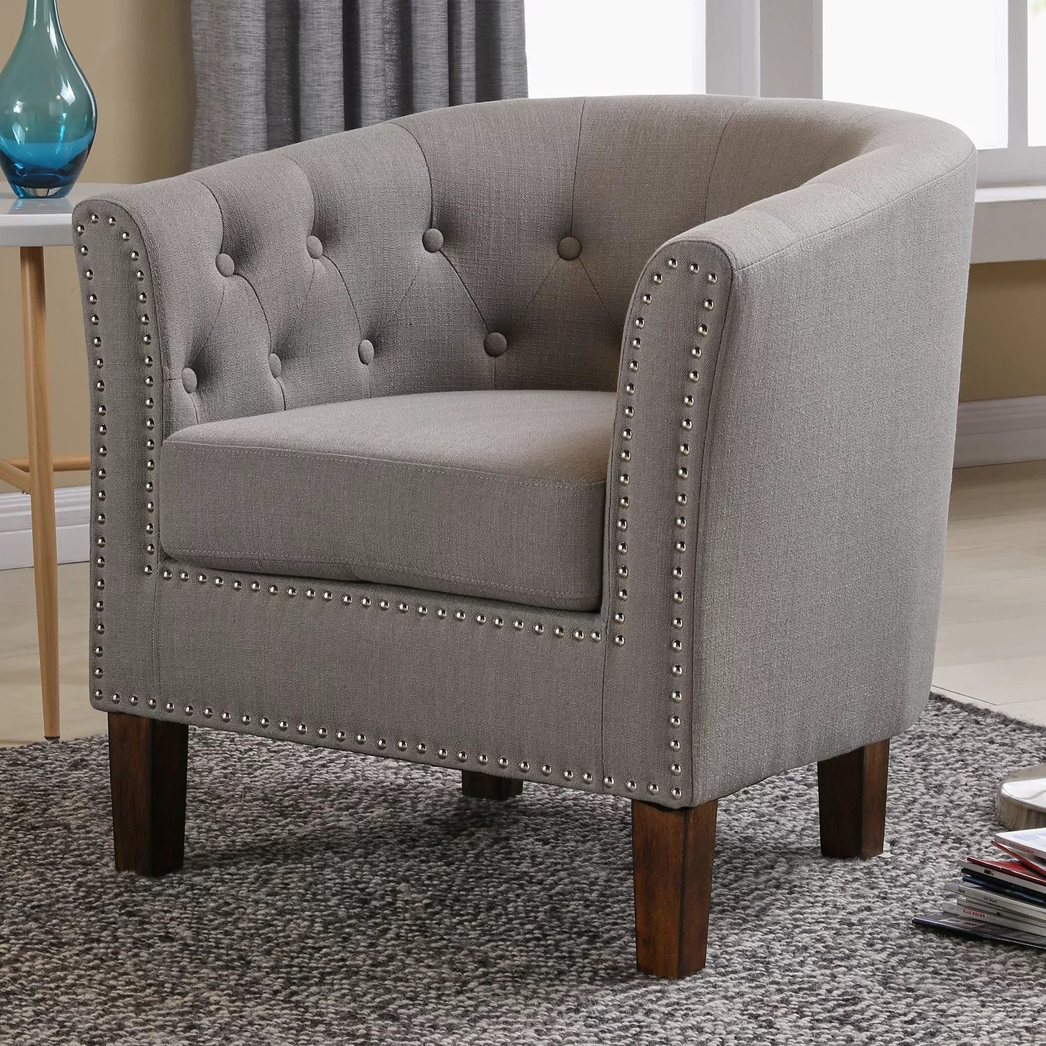accent chair gray x rocker grey chairs furniture kohl s lincoln tufted tub