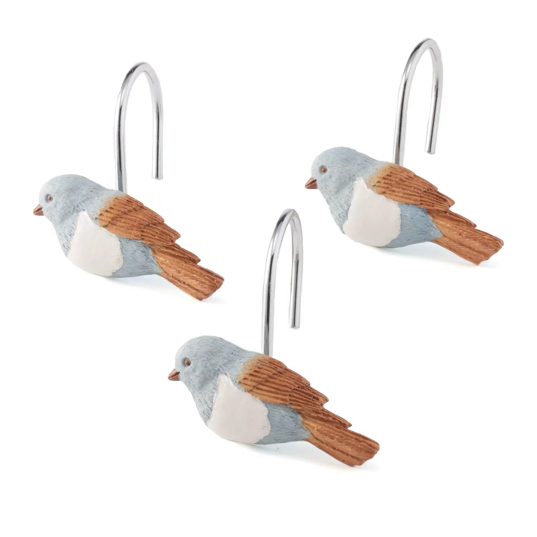 saturday knight ltd faithful birds shower curtain hooks