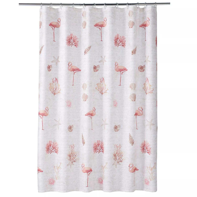 saturday knight ltd coral gables flamingo shower curtain