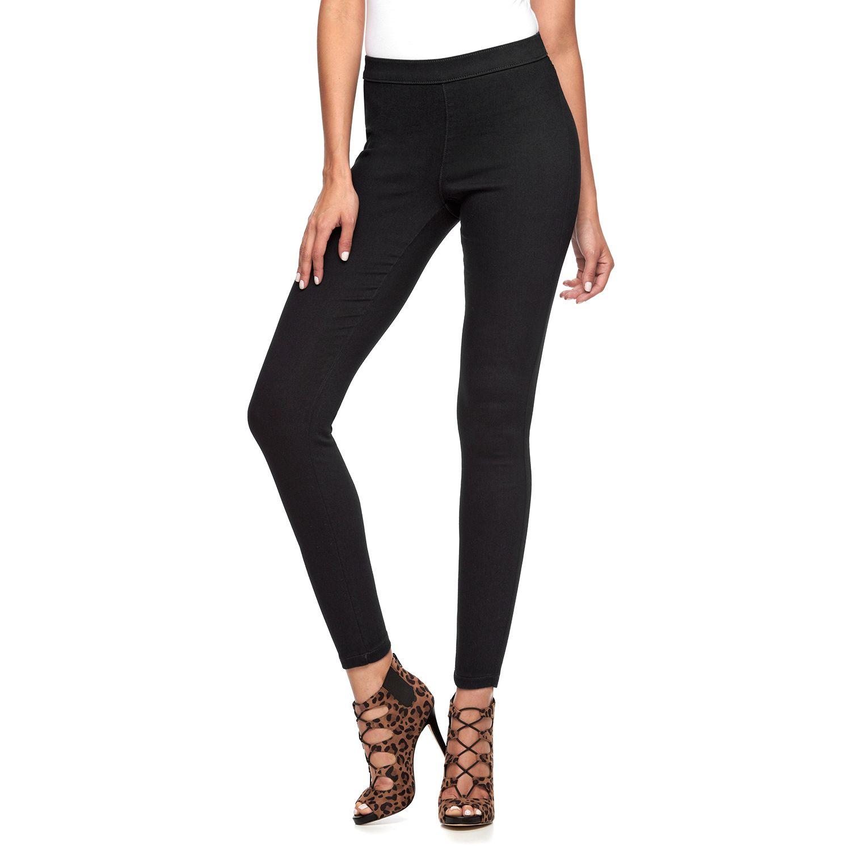 Women   jennifer lopez midrise pull on jeggings also womens jeans bottoms clothing kohl rh kohls