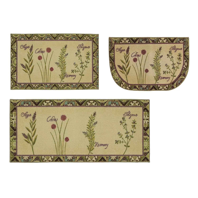 green kitchen rug ikea drawer organizer rugs home decor kohl s mohawk herb tiles