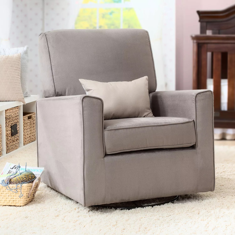 delta avery nursery glider chair grey osaki 4000 massage rocking chairs gliders furniture baby gear kohl s children ava swivel rocker