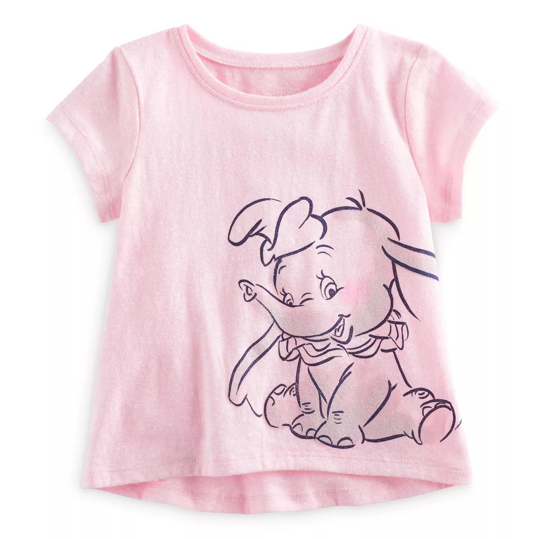 Disney   dumbo baby girl glitter short sleeve graphic tee by jumping beans also rh kohls