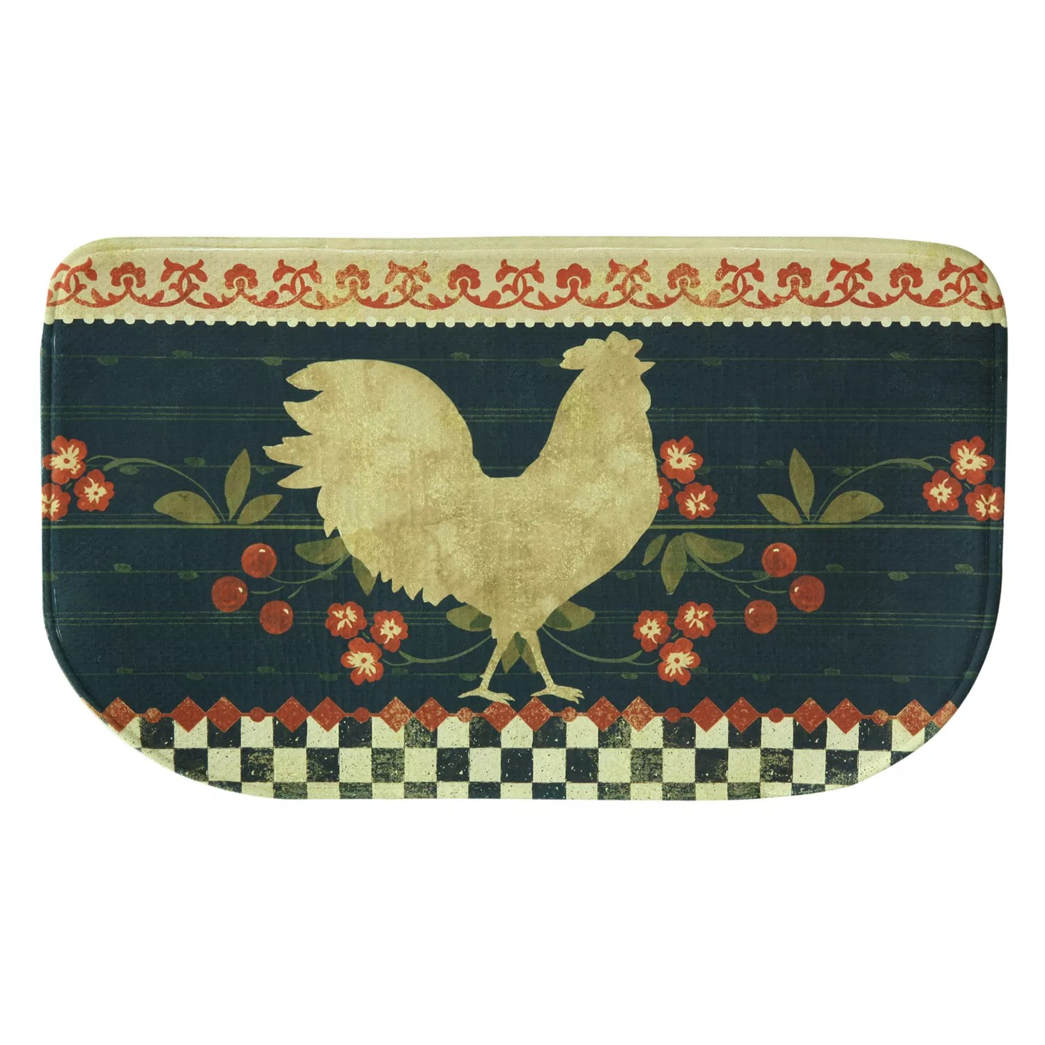 memory foam kitchen rug wooden play kitchens bacova retro pig 18 x 30 regular 44 99 rooster