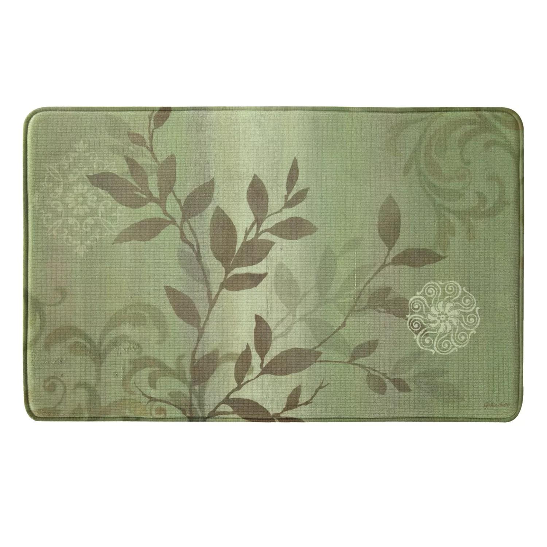 memory foam kitchen rug tall table bacova branch swirl vintage