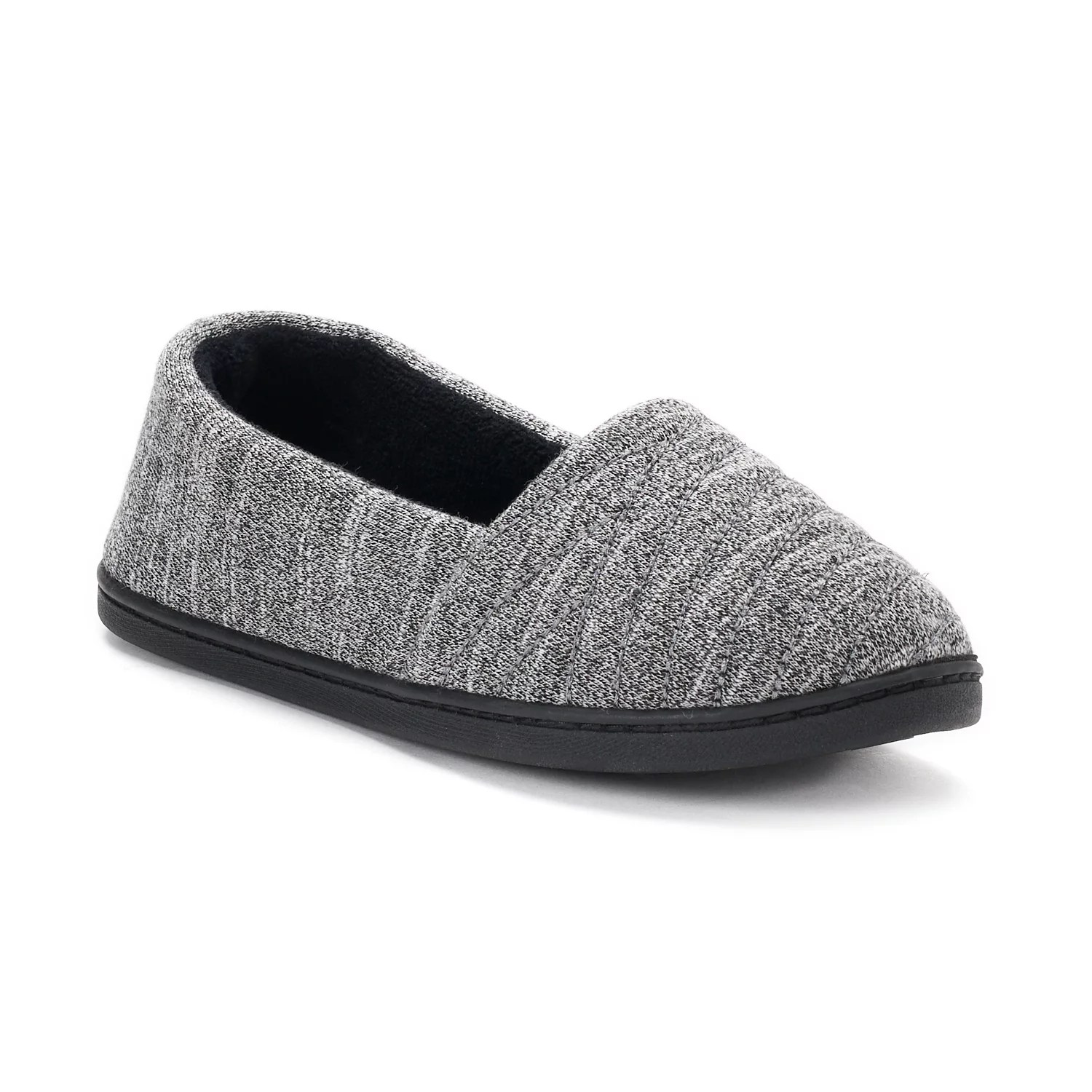 also women   isotoner andrea space knit  line slippers rh kohls