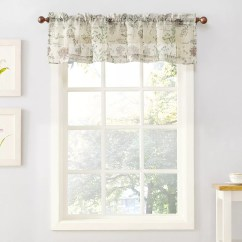 Kitchen Valance Aid Mixers Top Of The Window Wildflower Sheer