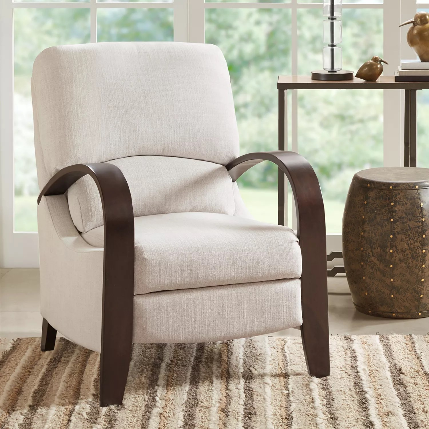 reclining accent chair outdoor plastic chairs recliners furniture kohl s madison park sheridan recliner