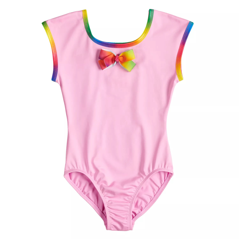 also girls jacques moret jojo siwa rainbow bow leotard rh kohls