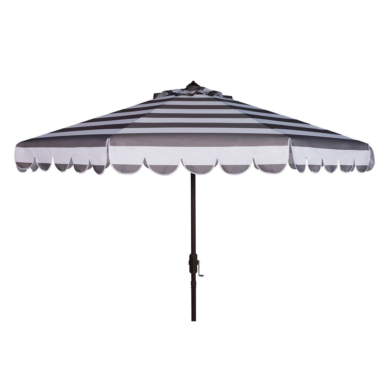 safavieh 9 ft striped scalloped trim patio umbrella