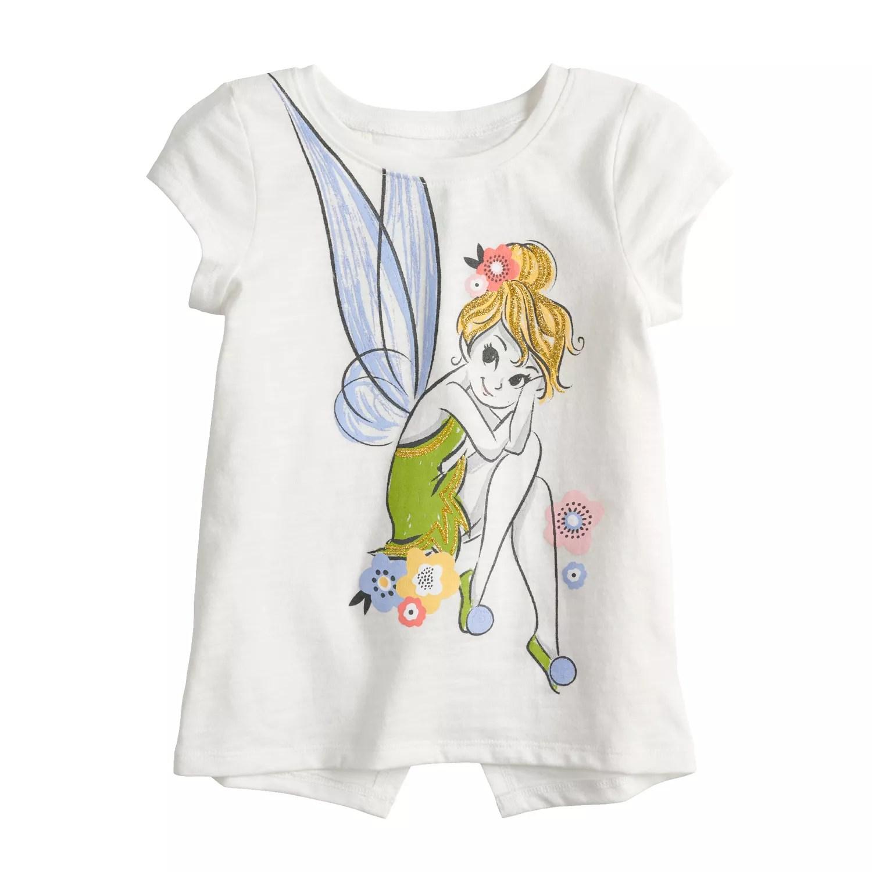 also disney   tinkerbell toddler girl glittery graphic tee by jumping beans rh kohls