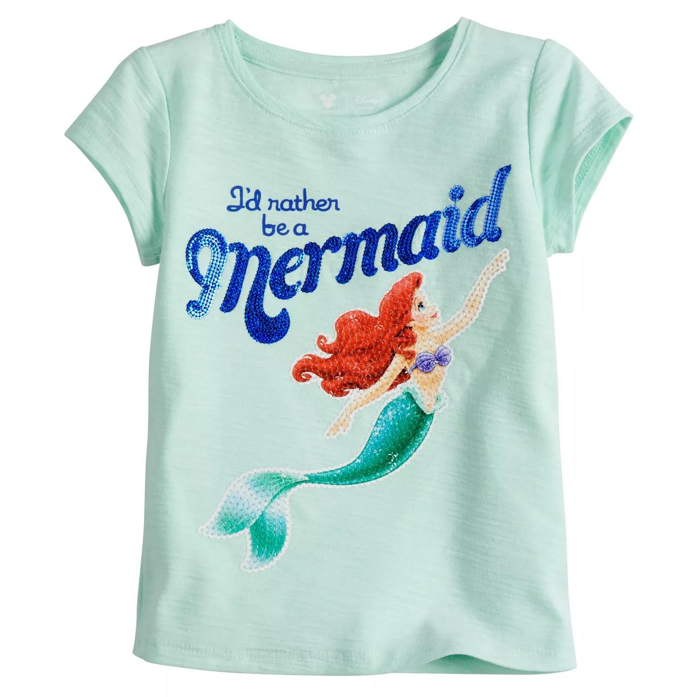 Disney   little mermaid toddler girl ariel   rather be  tee by jumping beans also rh kohls