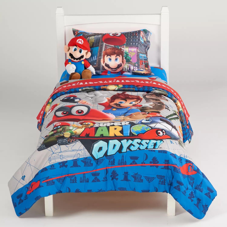 super mario odyssey caps off twin full comforter