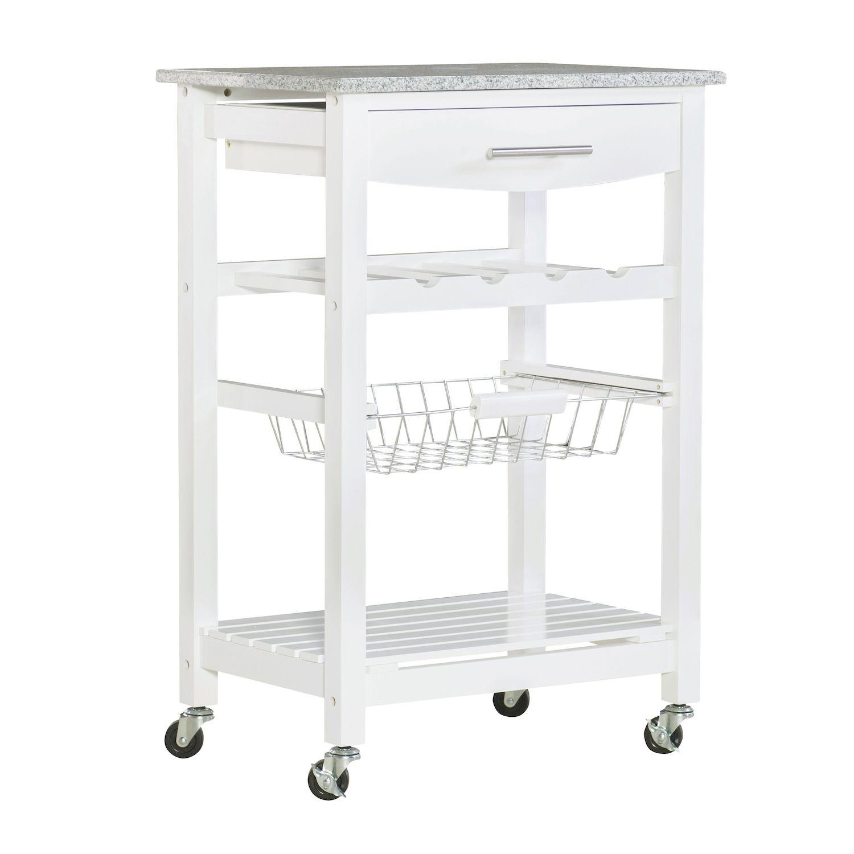 granite top kitchen cart diy cabinet refacing linon roger