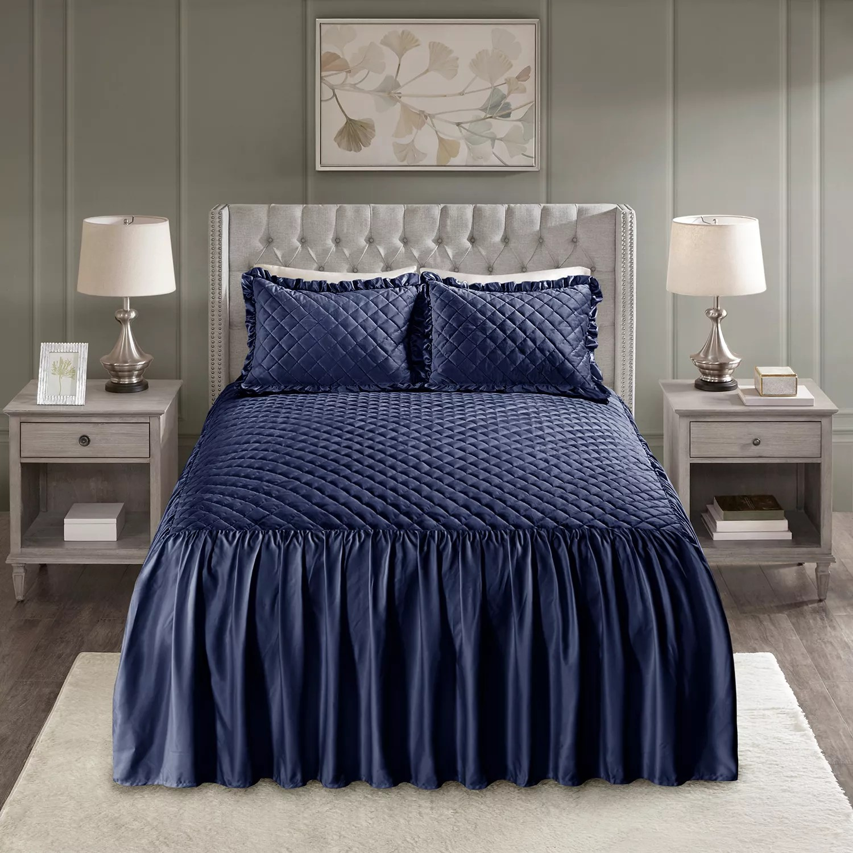 blue bedspreads bedding bed
